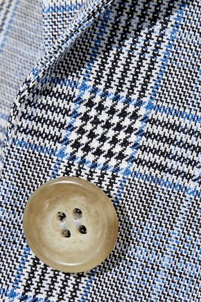 TIBI Prince of Wales wool and silk-blend blazer