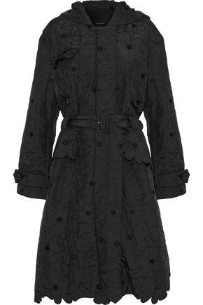 SIMONE ROCHA Broderie anglaise shell hooded coat