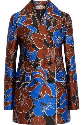 MARNI Double-breasted metallic jacquard jacket
