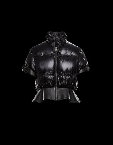 Moncler Short Down Jackets Woman: ONYX