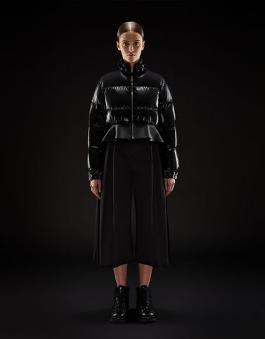 Moncler Short Down Jackets Woman: OLIVINE