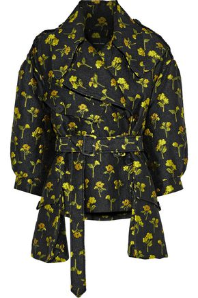SIMONE ROCHA Belted floral-jacquard jacket