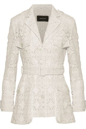 SIMONE ROCHA Embroidered cotton-blend organza jacket