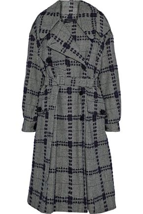 SIMONE ROCHA Embellished bouclé-tweed wool-blend coat