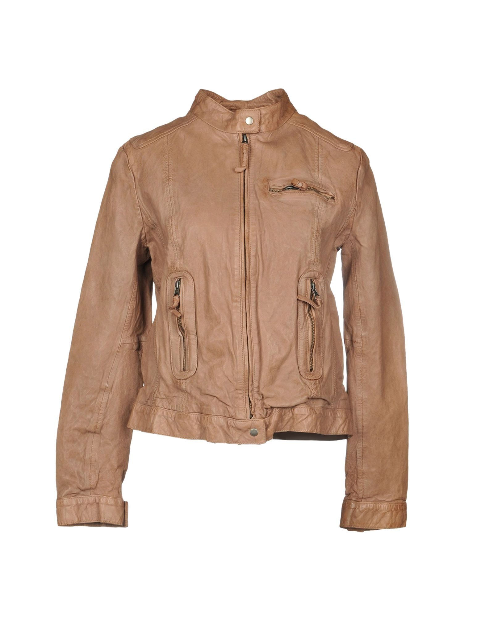 MDK Biker Jacket in Light Brown