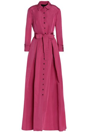 CAROLINA HERRERA Belted pleated faille gown