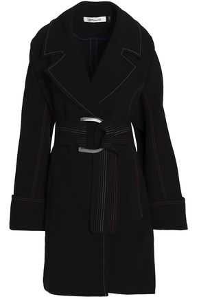 DIANE VON FURSTENBERG Belted crepe coat