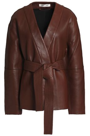 DIANE VON FURSTENBERG Belted leather jacket