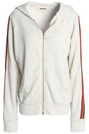 MONROW Mélange jersey hooded jacket