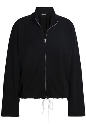 MONROW Stretch cotton and modal-blend French terry jacket