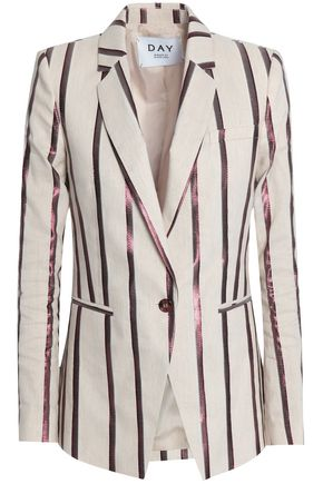 DAY BIRGER ET MIKKELSEN Metallic striped canvas blazer