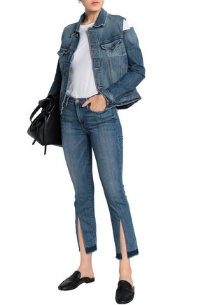 FRAME Cutout denim jacket