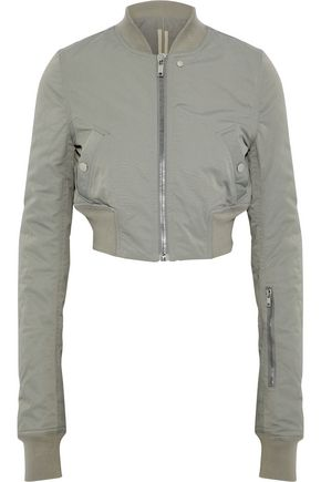 DRKSHDW by RICK OWENS Cropped cotton-blend faille bomber jacket
