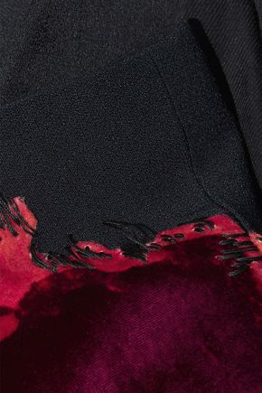 HAIDER ACKERMANN Satin-trimmed embroidered velvet blazer