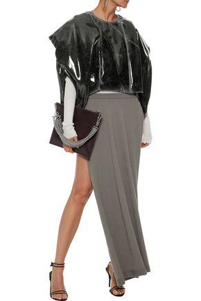 RICK OWENS Cropped printed PVC jacket