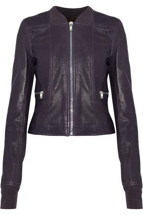 RICK OWENS Geo Harness textured-leather biker jacket