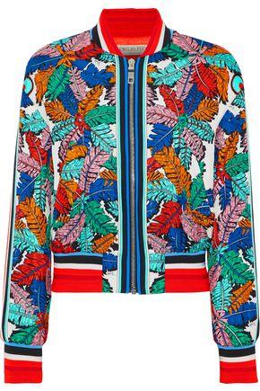 EMILIO PUCCI Printed silk-twill bomber jacket