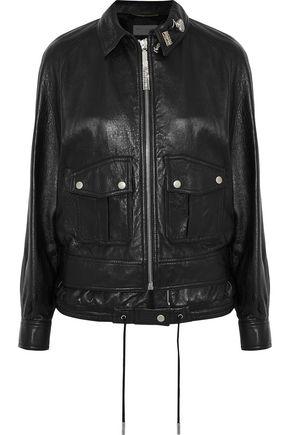SAINT LAURENT Appliquéd leather jacket