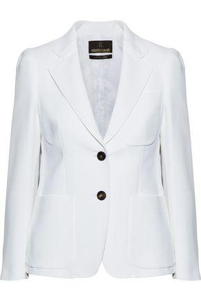 ROBERTO CAVALLI Cotton and silk-blend twill blazer