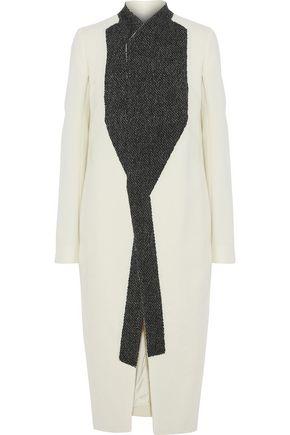 RICK OWENS Two-tone wool-blend coat