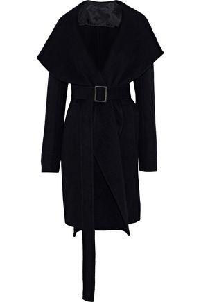 RICK OWENS Belted cashmere coat