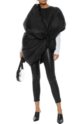 RICK OWENS Oversized gathered shell down coat