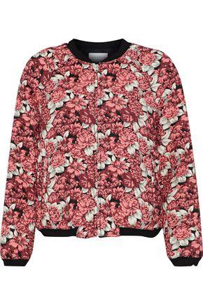 SANDRO Evora floral-jacquard bomber jacket