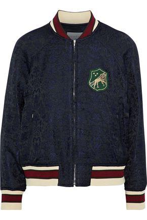 SANDRO Jam appliquéd jacquard bomber jacket