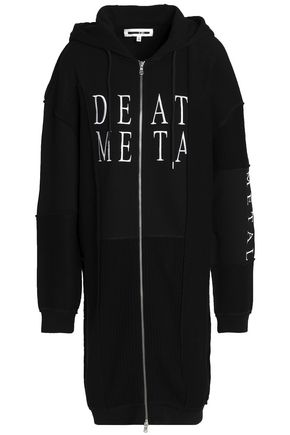 McQ Alexander McQueen Embroidered cotton hooded jacket
