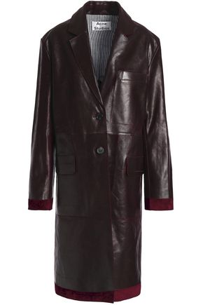 ACNE STUDIOS Suede-trimmed leather coat