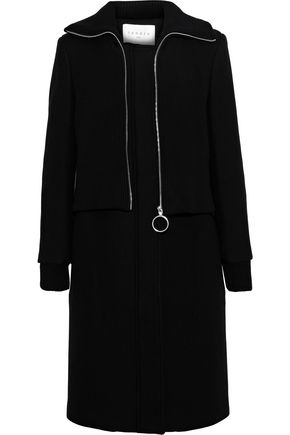SANDRO Kolia wool-blend twill coat