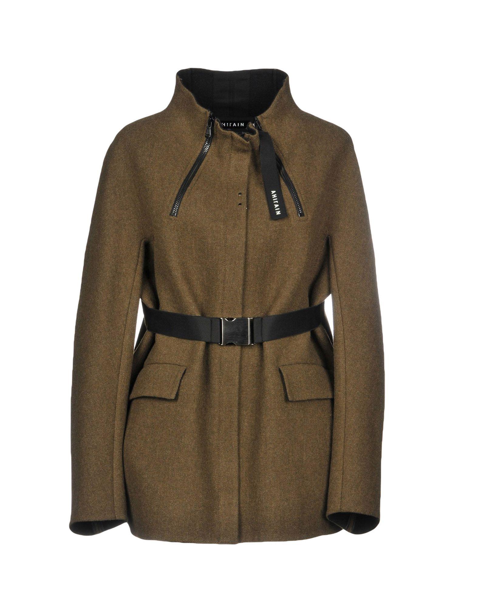 AHIRAIN Coat in Military Green