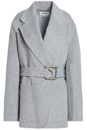 ACNE STUDIOS Brushed wool and cashmere-blend coat