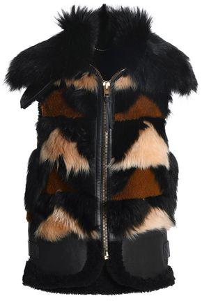 COACH Patchwork shearling vest