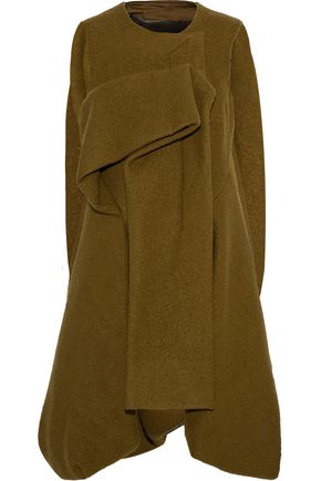 RICK OWENS Oversized cape-effect brushed-wool coat