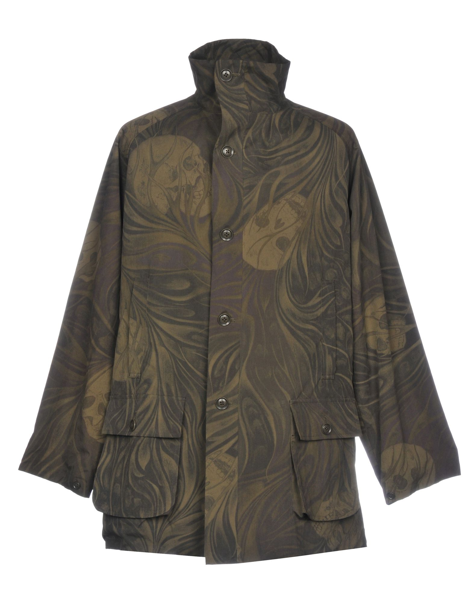YOHJI YAMAMOTO POUR HOMME Full-Length Jacket in Military Green