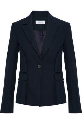 DEREK LAM 10 CROSBY Tie-front cotton-blend twill blazer