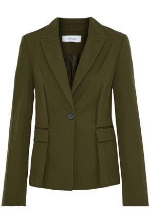 DEREK LAM 10 CROSBY Tie-back cotton-blend blazer