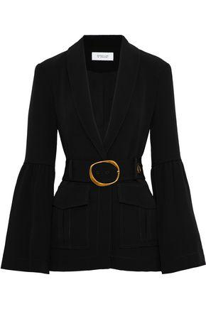 DEREK LAM 10 CROSBY Belted crepe blazer