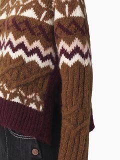 スリットセーター