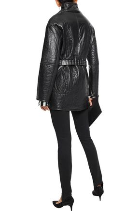 IRO Belted textured-leather jacket
