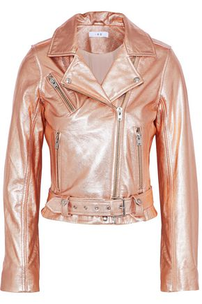 IRO Brooklyn metallic leather biker jacket