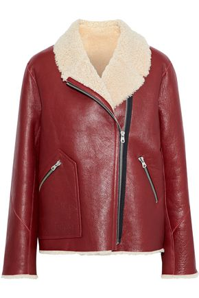 SANDRO Alan shearling jacket