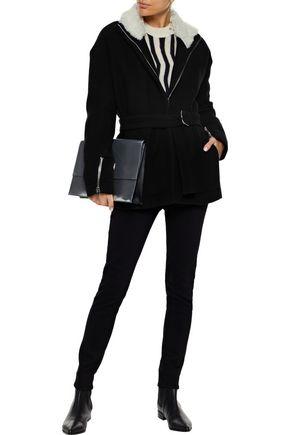 IRO Achida shearling-trimmed wool-blend twill jacket