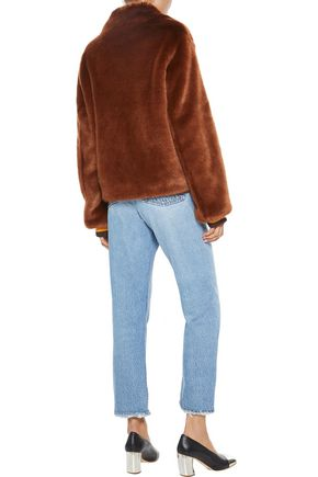 SANDRO Alesta faux fur jacket