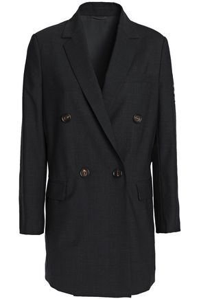 BRUNELLO CUCINELLI Bead-embellished wool-blend blazer