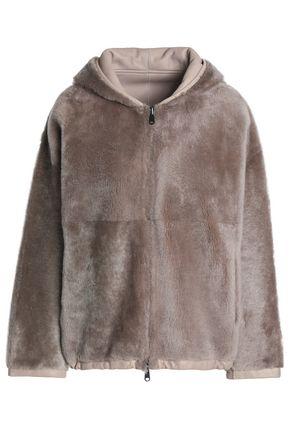 BRUNELLO CUCINELLI Reversible shearling hooded coat