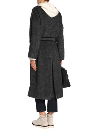 BRUNELLO CUCINELLI Double-breasted bouclé coat