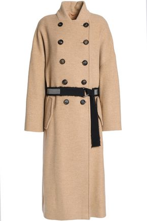 BRUNELLO CUCINELLI Double-breasted belted cashmere-felt coat