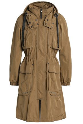 BRUNELLO CUCINELLI Gathered shell hooded trench coat